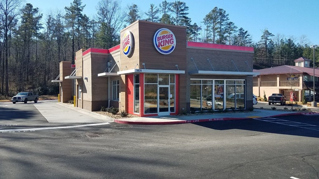 An outdoor view of a Burger King